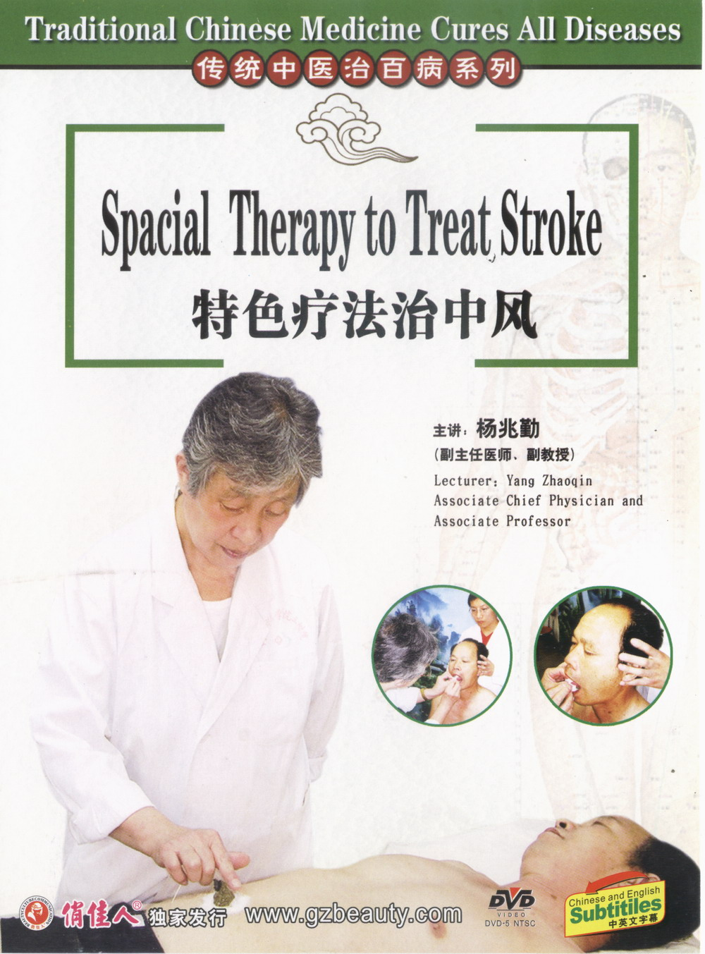 Special Therapy to Treat Stroke, Chinese Massage DVD, English Subtitled - Click Image to Close