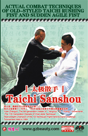 Actual Combat Techniques of Old-styled Taichi Rushing Fist and Sudden Agile Fist-Taichi Sanshou - Click Image to Close